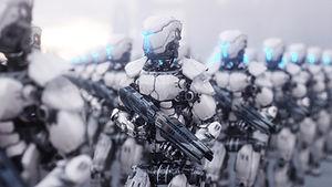 Roboter mit Waffen