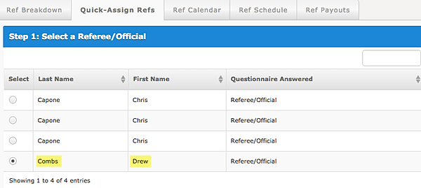 What are some common ways to schedule referees?