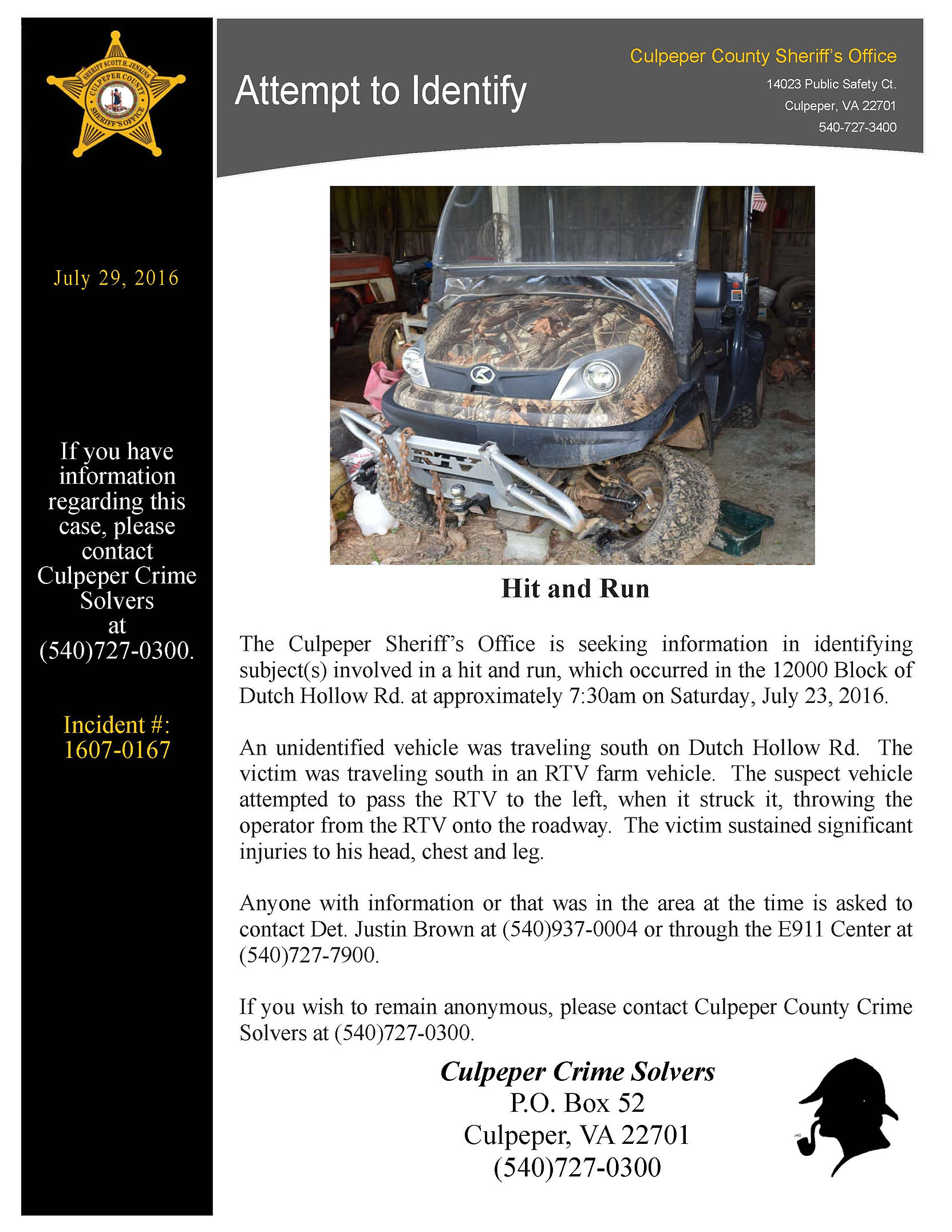 Culpeper County Sheriff's Office Arrest Report, May 29 ...