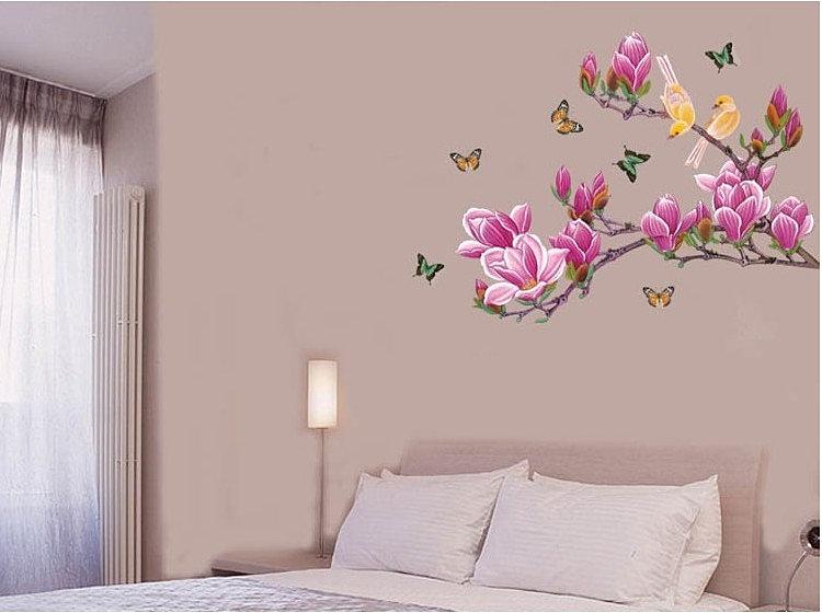 Рисуем на стенах в спальне своими руками 68