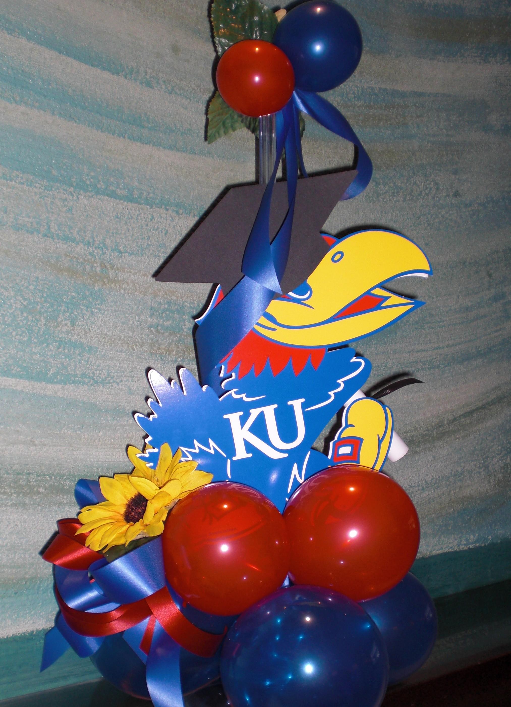 Balloons lawrence ks balloons kansas city balloons topeka ku balloon centerpieces