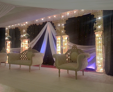Roshnee wedding stages asian wedding stages for Asian wedding stage decoration birmingham