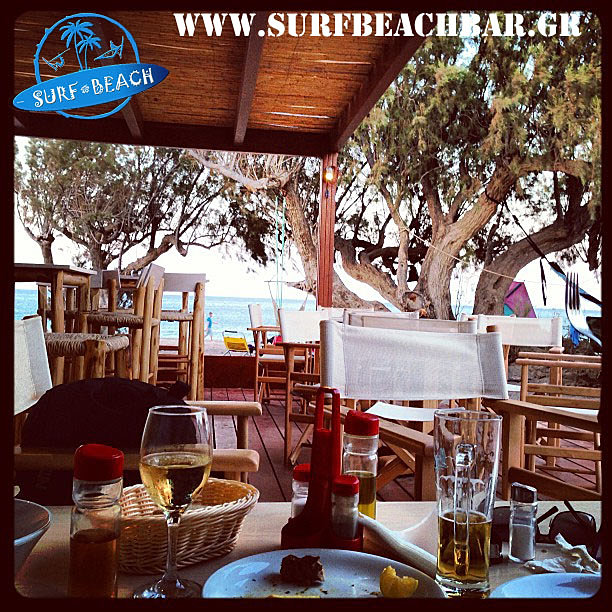 Surf beach bar kouremenos beach palekastro windsurfing for Food bar 527