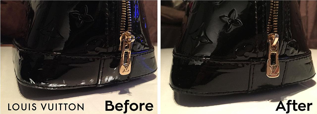 large ysl clutch in black patent leather - handbagfix