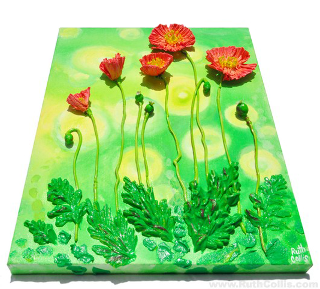 3D Crinkle Poppies