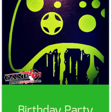video game party truck | invitations, Party invitations