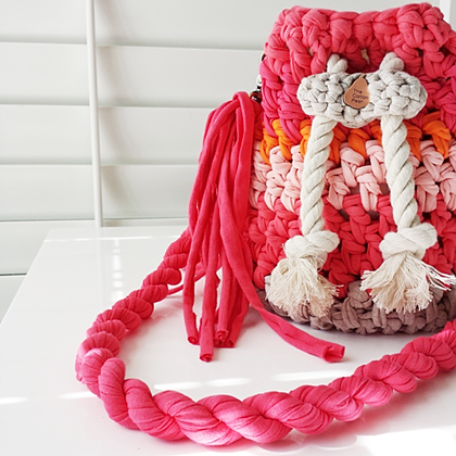трикотажная пряжа для сумки