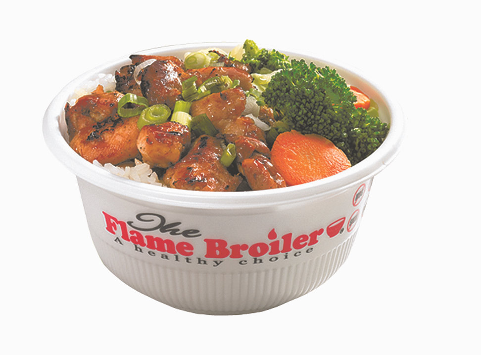 Use this page to access important Flame Broiler information. Table of Contents: Nutrition; Store Locations; Contact Info; Nutrition Detailed nutrition facts about food at the Flame Broiler. Download Nutrition Information. Nutrition value may vary depending on the portion amount. Bowls.