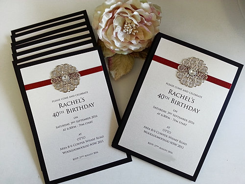 Birthday and Anniversary Invitations Sydney – 60th Birthday Invitations Australia