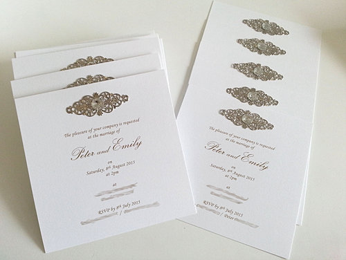 Flat Square Dimantes Wedding Invitations Sydney Jpg