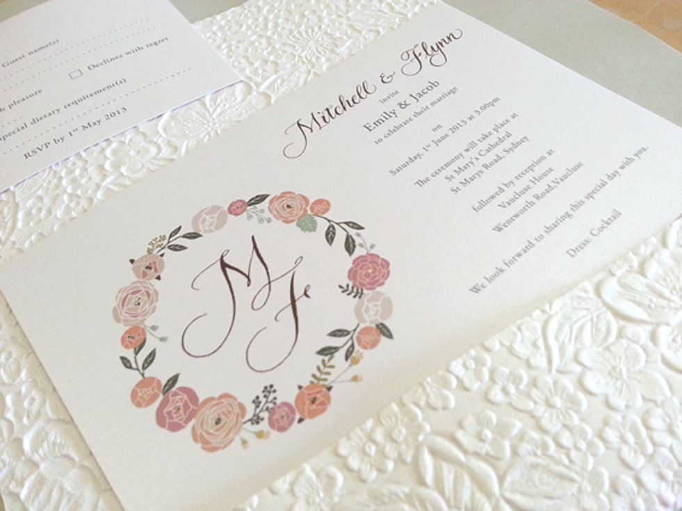 Wedding Invitation And Event Stationery Sydney