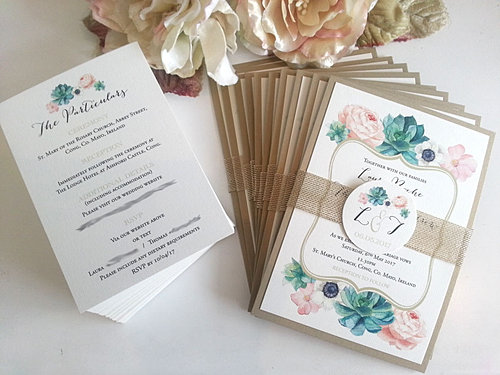 pure invites wedding invitations sydney stationery invites in style Hardcover Wedding Invitations Australia floral succulent gold blush green wedding invitation sydney australia belly band jpg hardcover wedding invitations australia