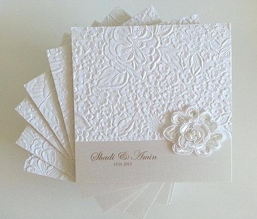 Custom Wedding Invitations Sydney Impressive invitations – Embossed Pocket Wedding Invitations
