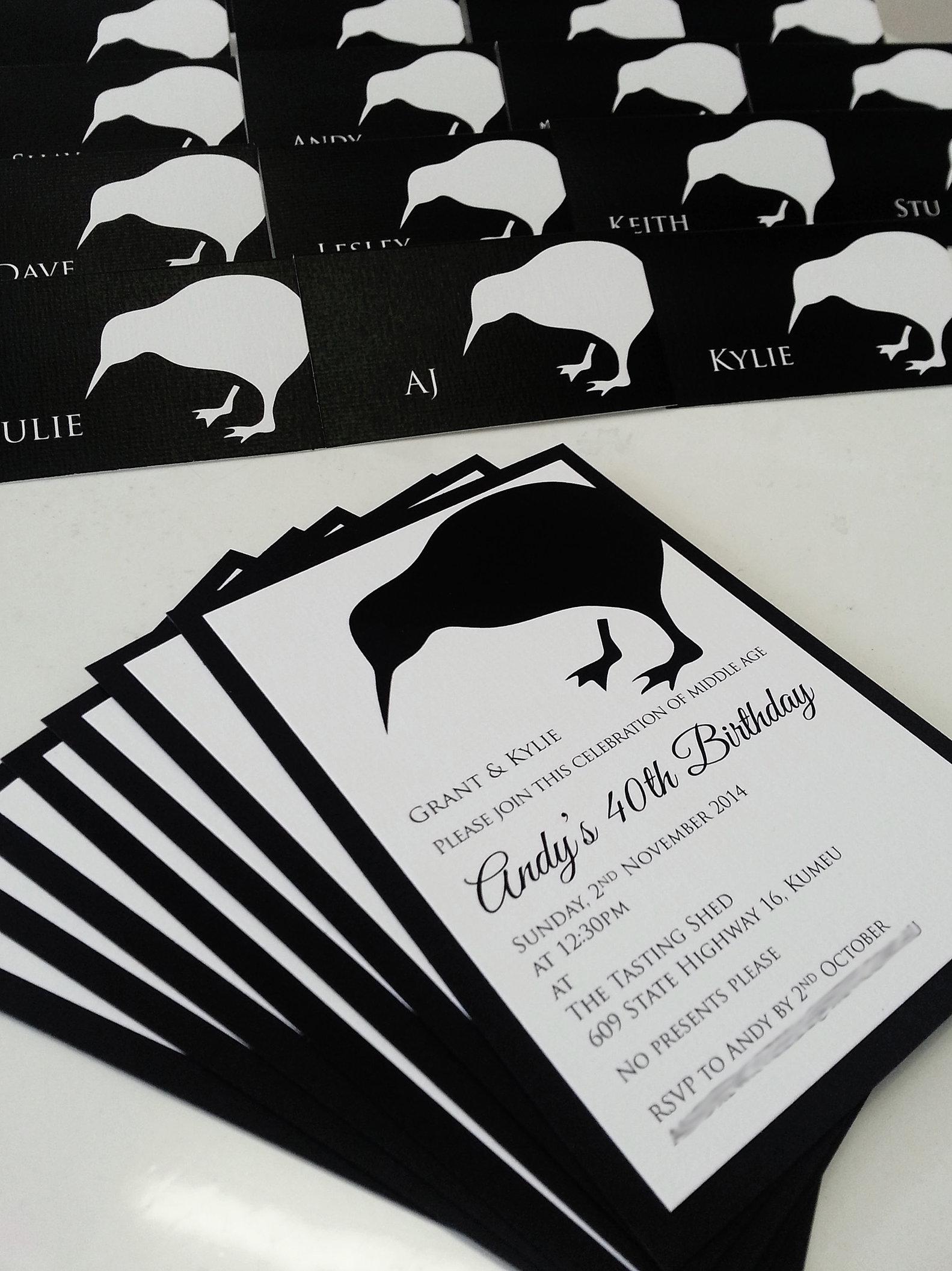 Birthday invitations and anniversary invitations sydney pure invites kiwi 40th birthday invitations sydneyg filmwisefo Images