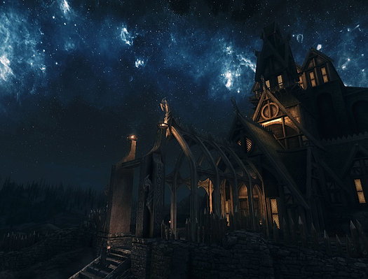 Dragonsreach at night