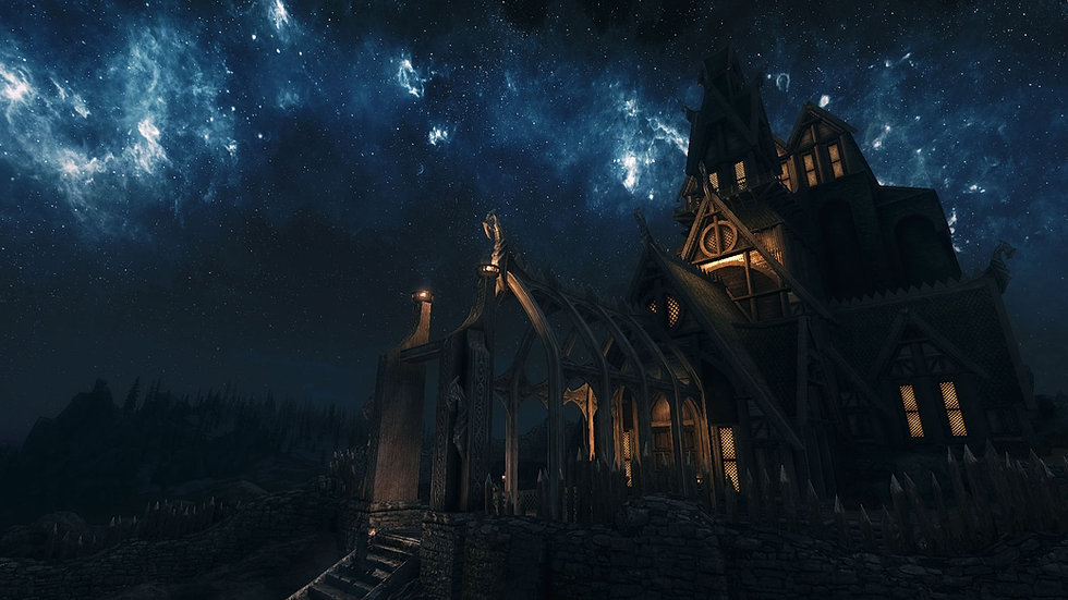 Dragonsreach at night.