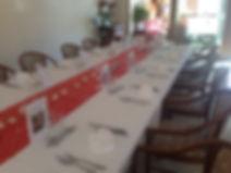 Repas de groupe salle
