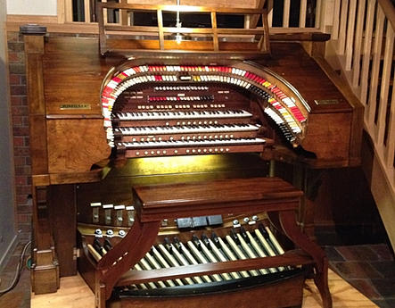 The 3 manual Kimball Console that controls my 32 rank VTPO.