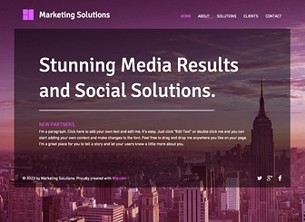 Marketing Strategy Template - Ready to promote your marketing or consulting firm, this modern template emphasizes well-presented information. Advertise your services and customize the layout and design to suit your business needs.