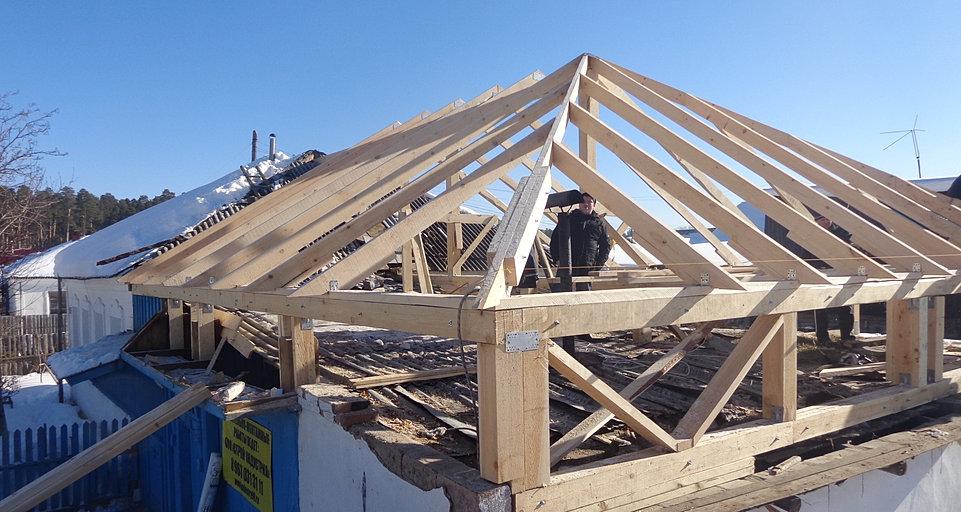 Строим крышу четырехскатную своими руками 25