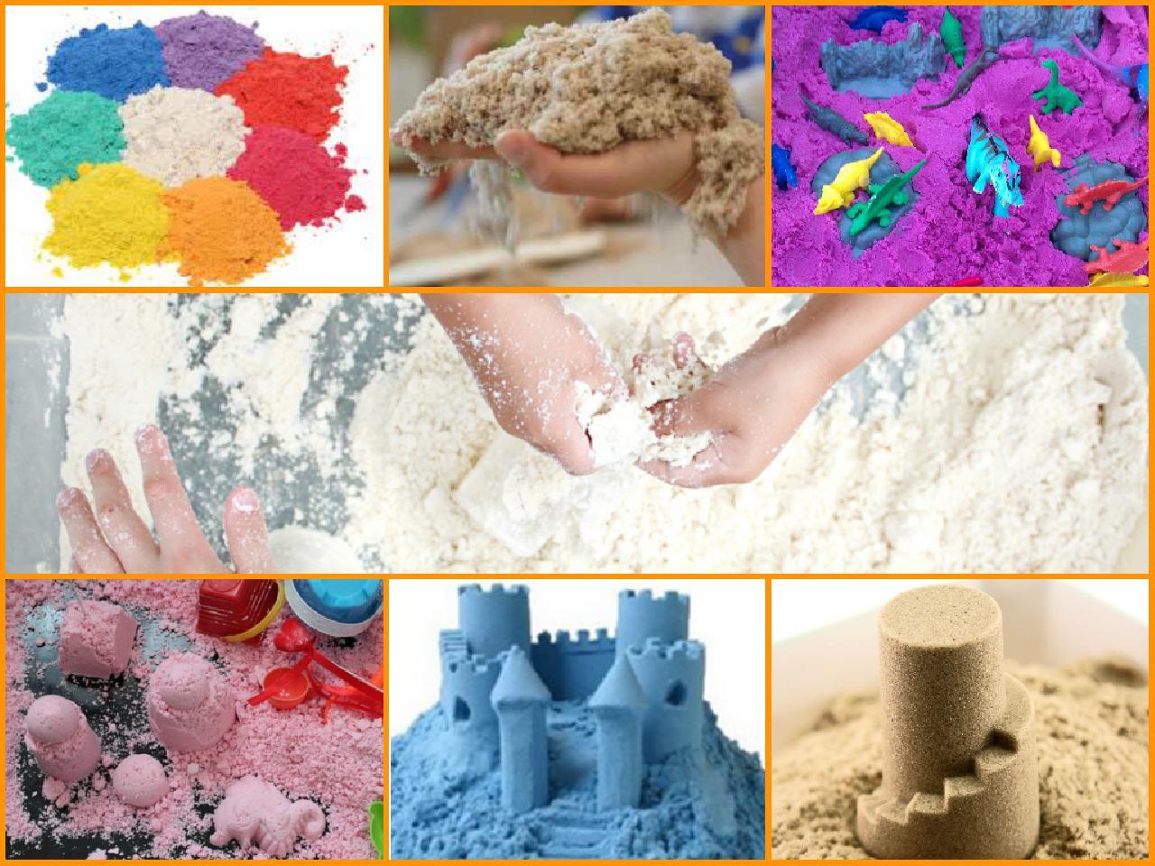 Кинетический песок своими руками состав