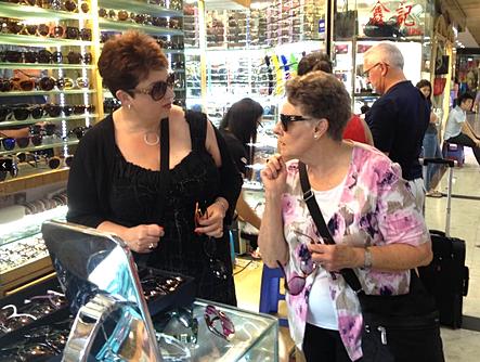 Shopping for sunglasses
