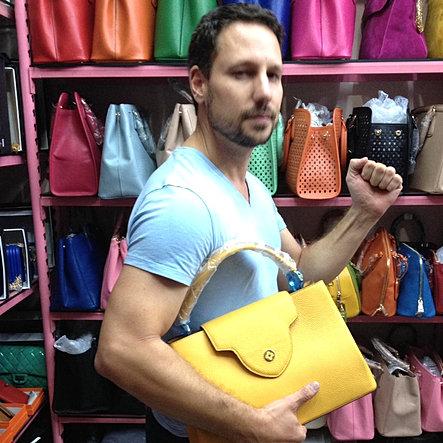 Handbag shopping for the wife