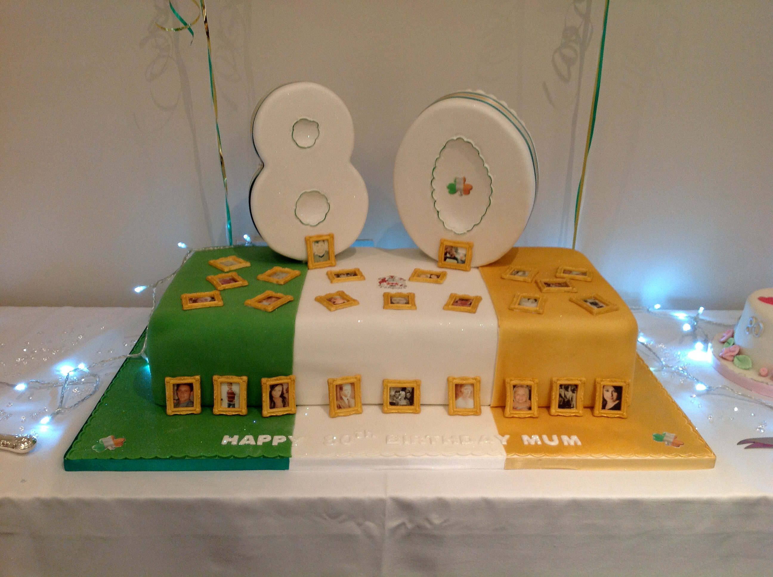 Irish Cake Decorating And Sugarcraft Chat : Says Sugarcraft, Eltham Cake Shop 80th Irish Birthday