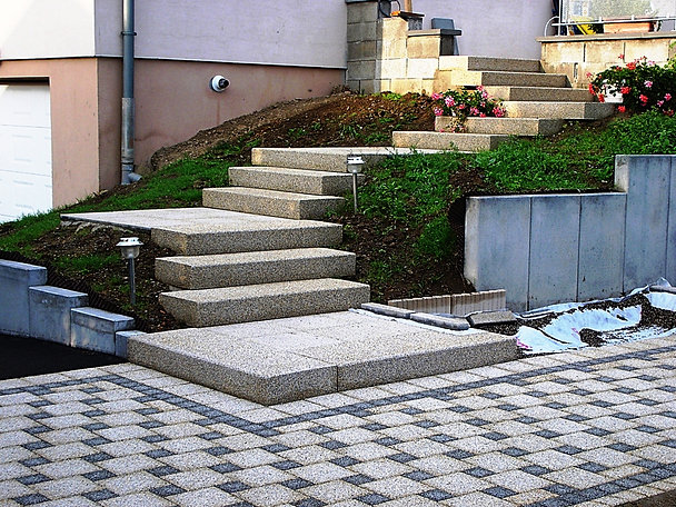 Europavage 68 am nagement ext rieur 68 for Escalier paysager