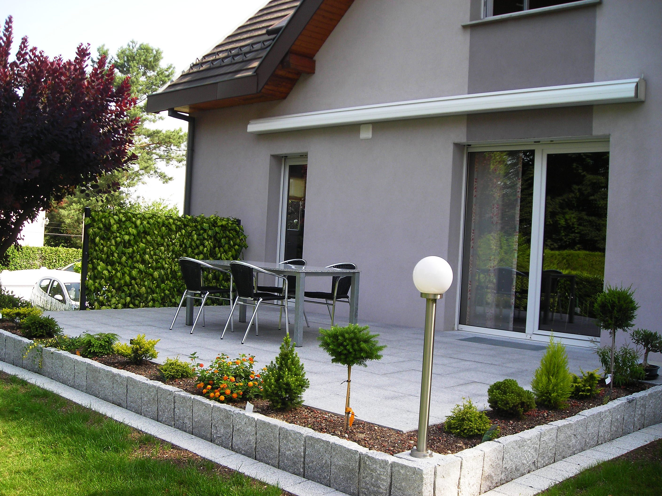 Europavage am nagement ext rieur paysagiste terrasse dalla escalier terrasse dallage granit - Faire ses bordures de jardin ...