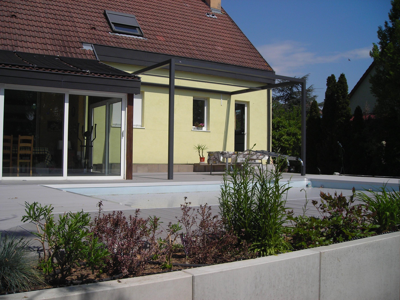 paysagiste,terrasse, dalla, escalier  Terrasse lame composite 68