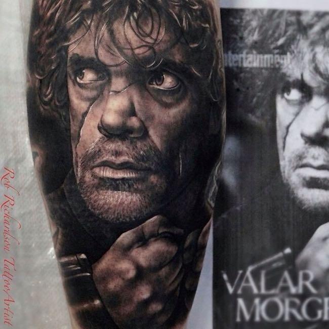 tatuaggi trono di spade realistico