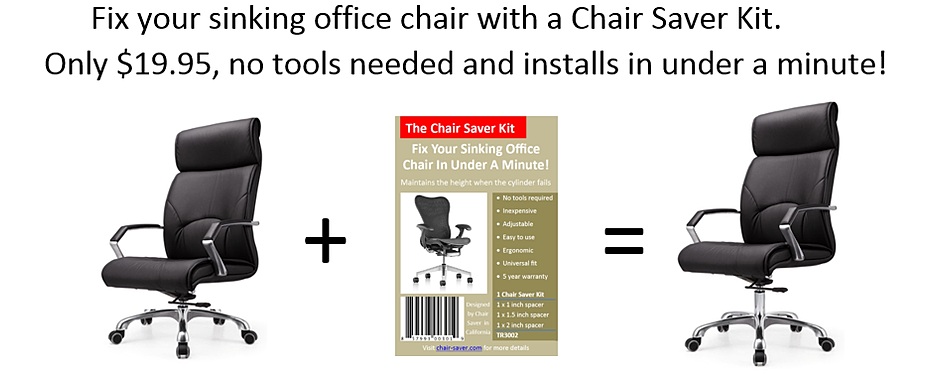 new office chair keeps sinking 2