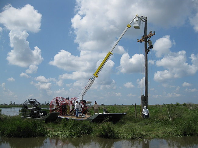 Skylift on an Airboat
