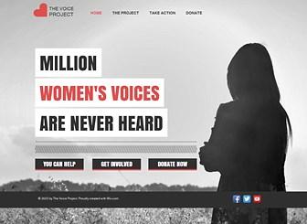 社会運動 Template - シンプルながら力強さを秘めたデザインで、あなたの声を世界に届けましょう。活動趣旨、メンバー募集、寄付に加え、ソーシャルメディアで最新情報を発信できます。