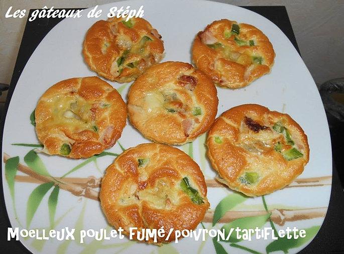 Les gateaux de steph moelleux poulet fum poivron - Cuisiner des blancs de poulet moelleux ...