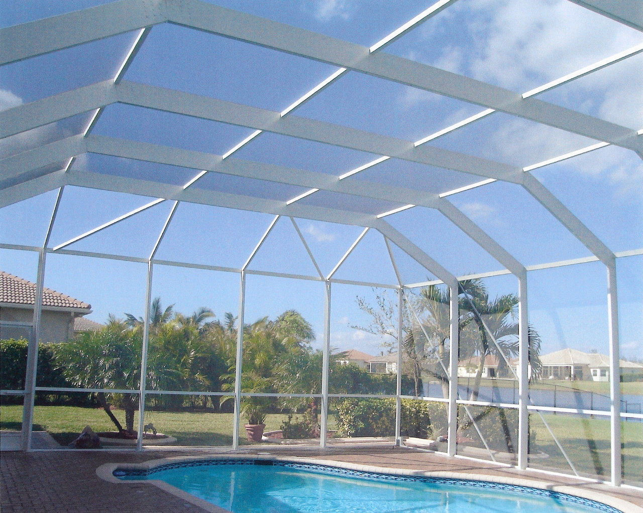 Neighborhood web site created by vmilian based on for Plexiglass pool enclosure