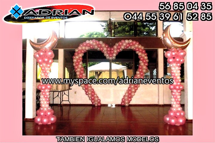 Globo click decoracion con globos arco for Decoracion con globos 50 anos