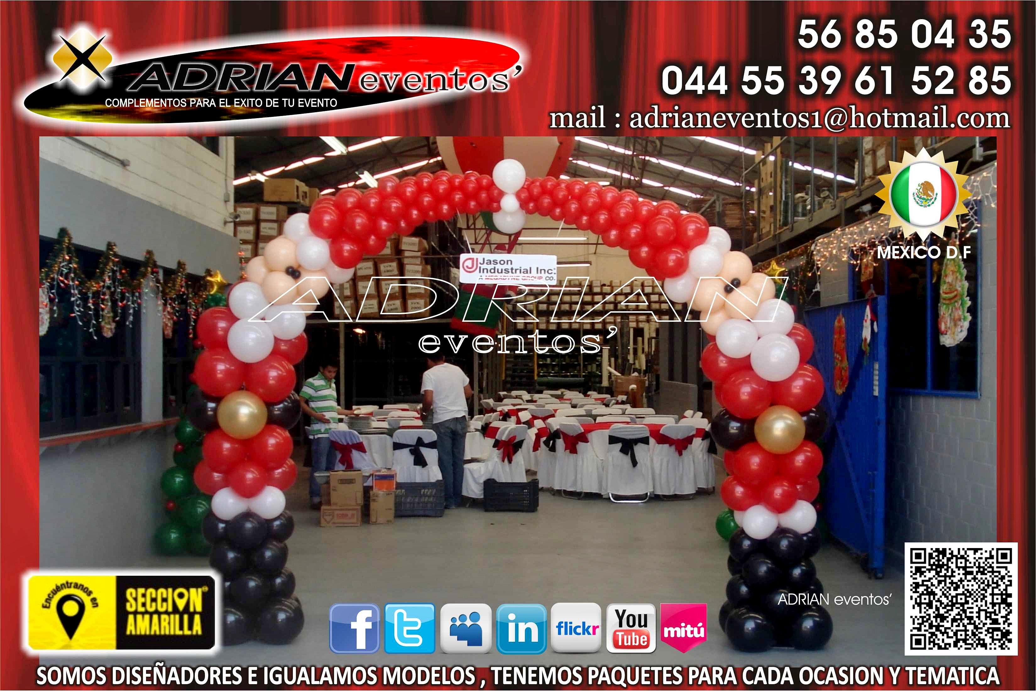 Globo click decoracion con globos arco de santas - Decoracion de navidad con globos ...