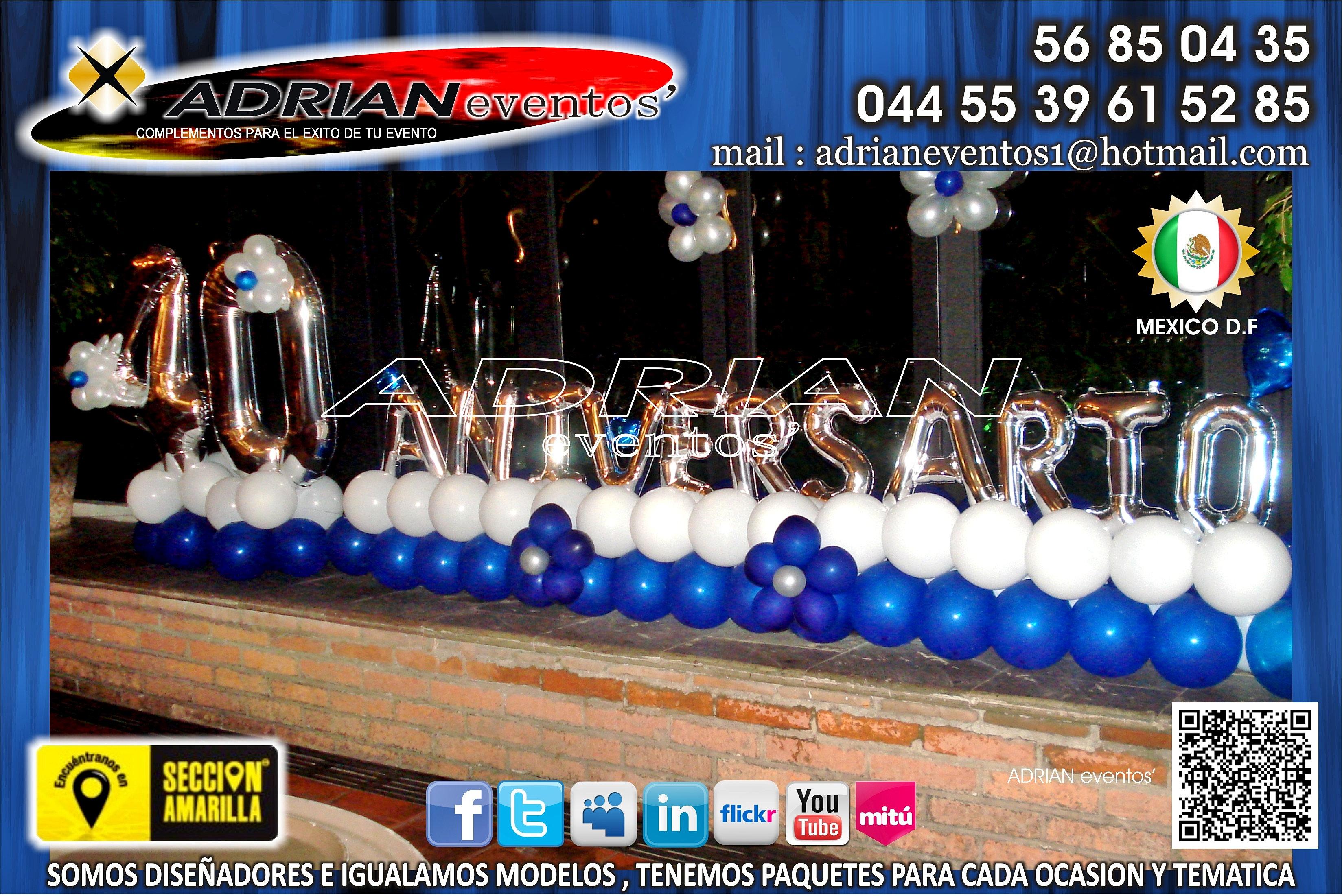 Globo click decoracion con globos 40 aniversario for Decoracion 40 aniversario de bodas
