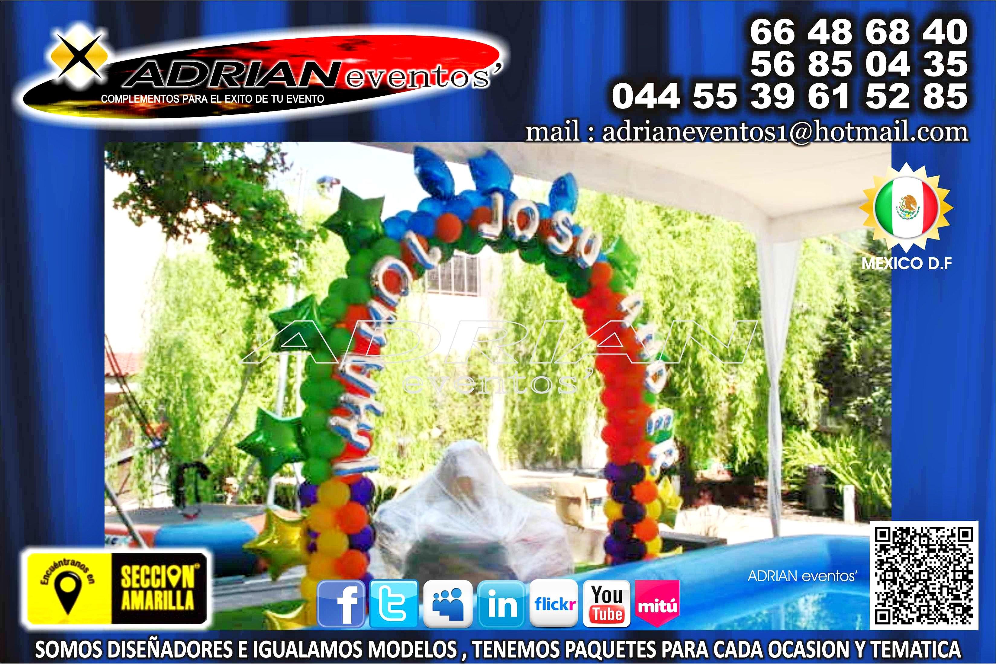 Globo click decoracion con globos arco multicolor con for Laminas de decoracion para pared