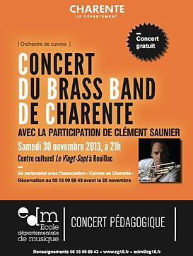 Brass Band de Charente : Premier concert 2014 à Barbezieux