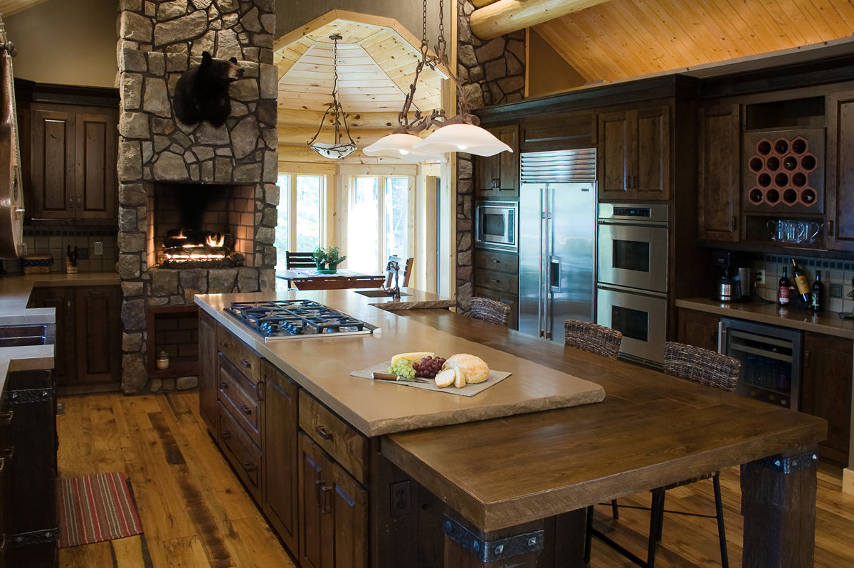 Notion llc custom kitchen design and bath design for Rustic kitchen designs