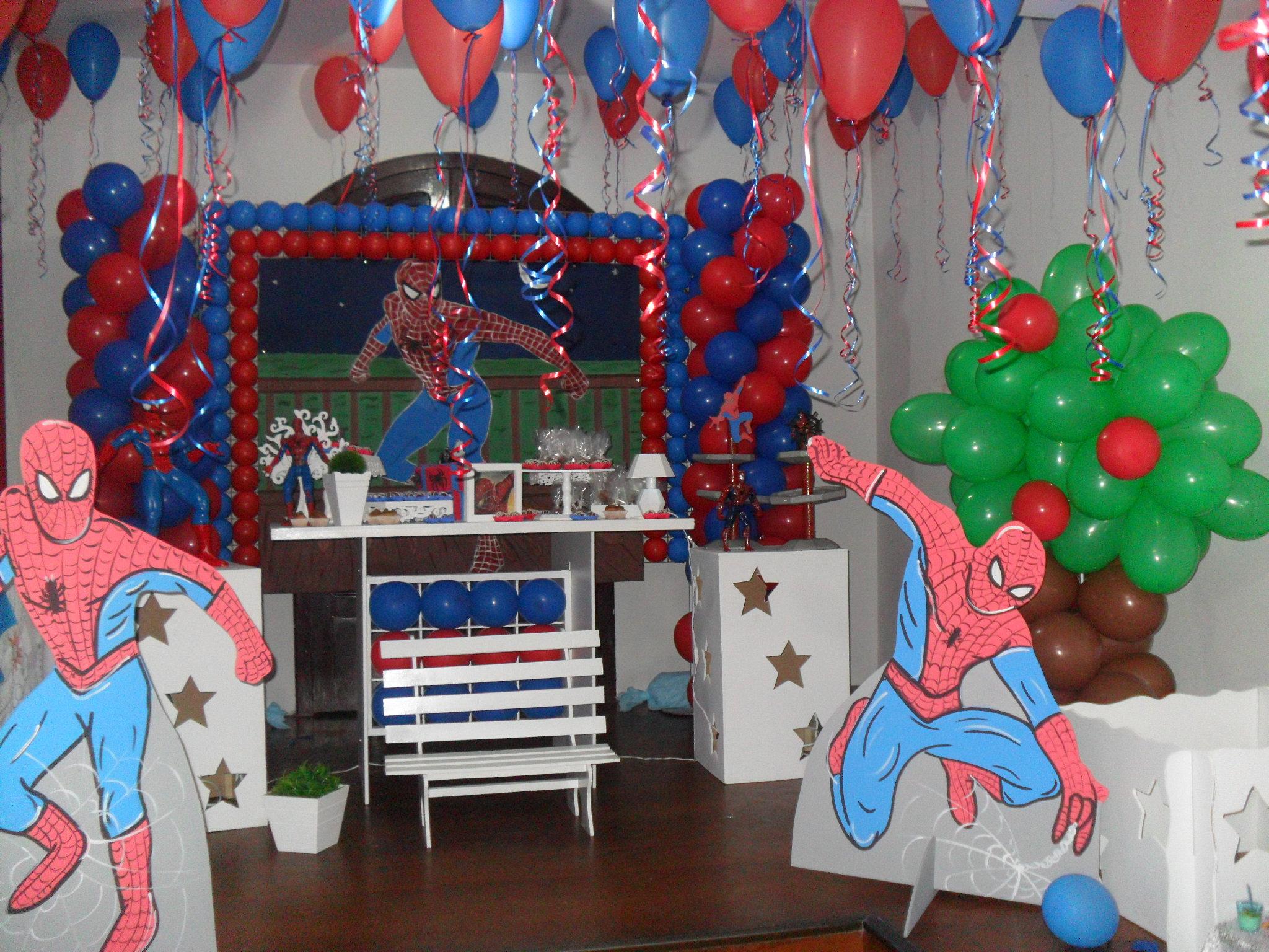 decoracao festa do homem aranha:Decorao De Festa Infantil Do Homem Aranha Simples 01jpg