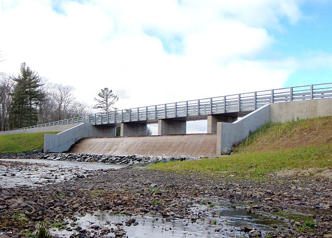 M j engineering and land surveying p c structural design for Pond dam design