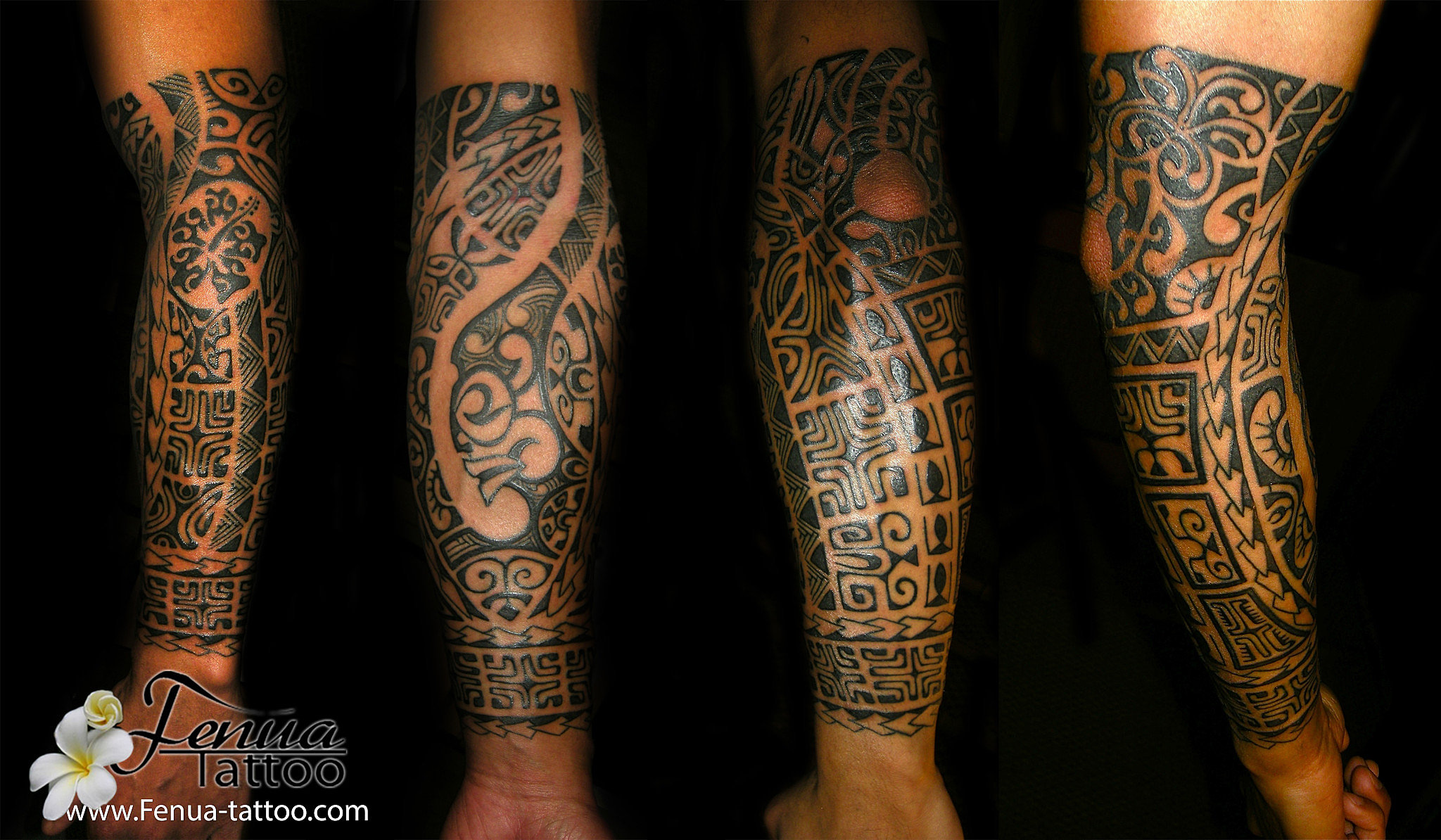 Picasa , tatouage polynesien maori bras