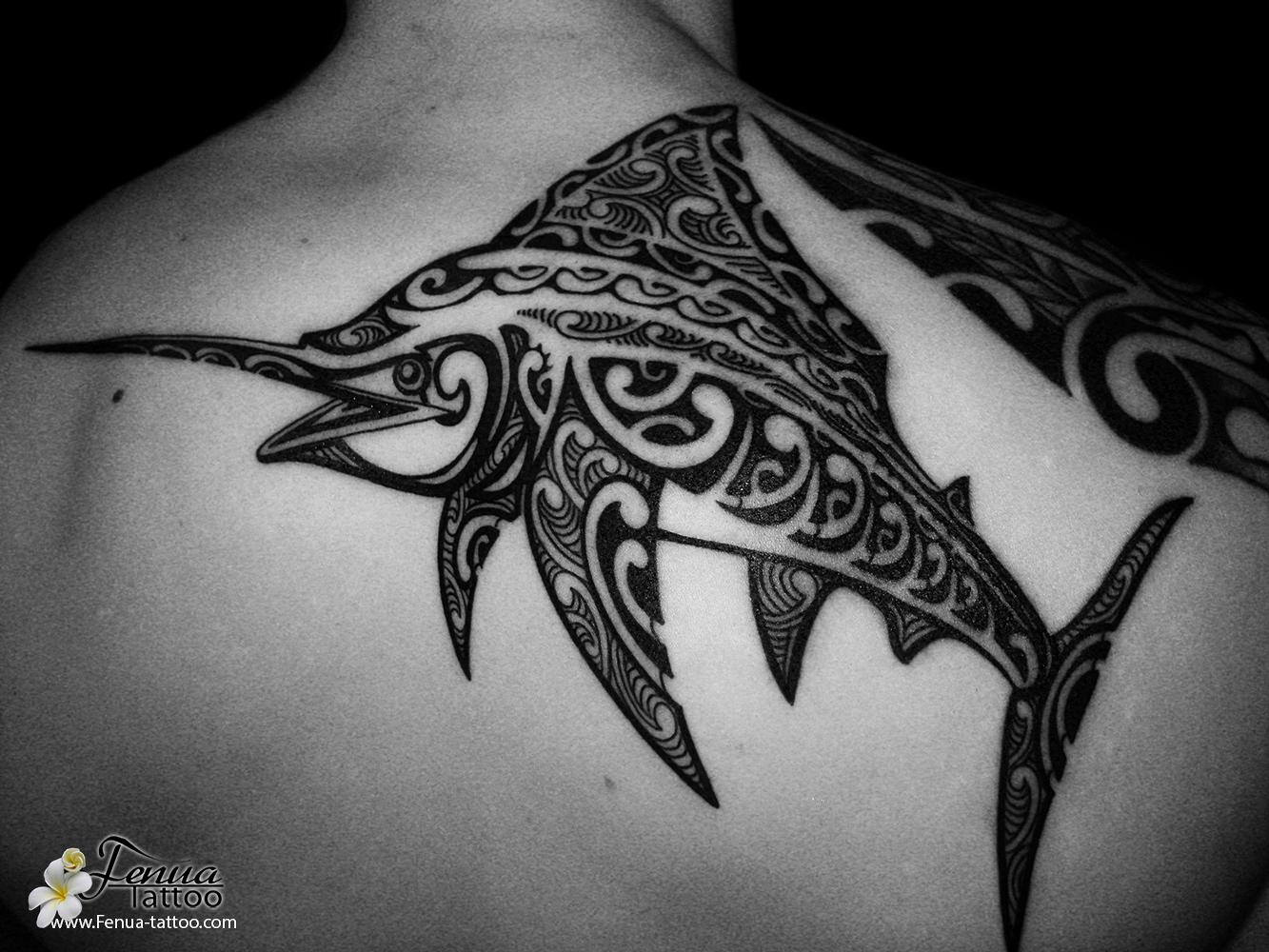 raie tatouage polyn sien svg