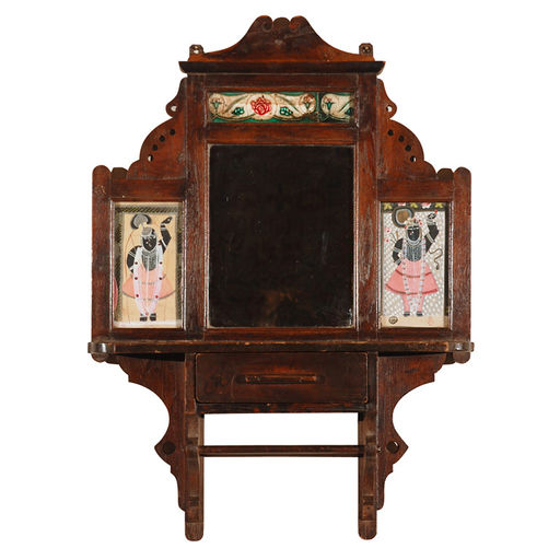 Antique Indian Vanity Mirror - Pat McGann Gallery Furniture Wix.com - Antique Indian Furniture Antique Furniture