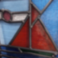 Bespoke stained glass window made on the beginner's course
