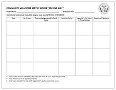 Volunteer Tracking Sheet | ILTexas Garland High School